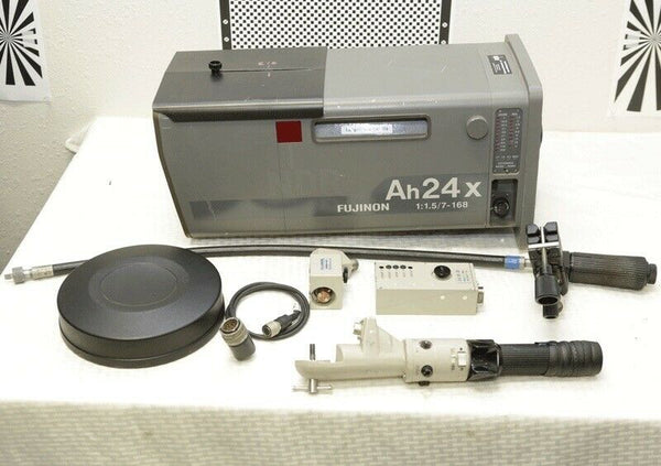 Fujinon AH24X7BESM box lens W/2X extender, Servo zoom and Manual focus controls