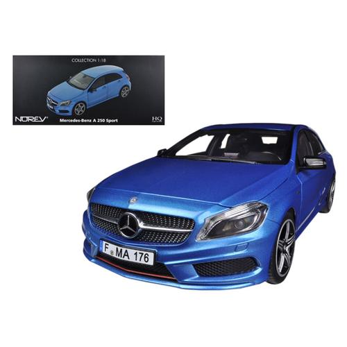 2012 Mercedes A 250 Sport Blue 1/18 Diecast Car Model by Norev