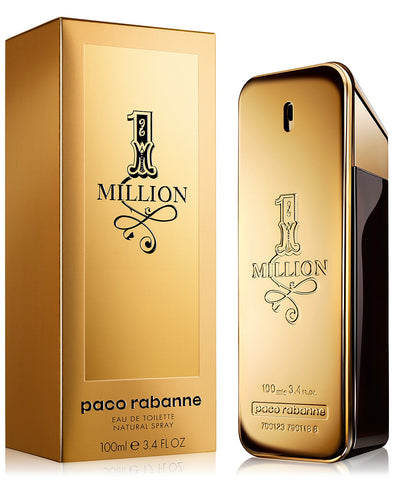 1 Million by Paco Rabanne Eau De Toilette Spray 3.4 oz 100 ml EDT for Men