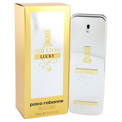 1 Million Lucky by Paco Rabanne Eau De Toilette Spray 3.4 oz for Men