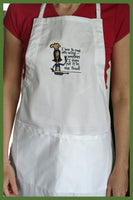 i like to cook with wine apron
