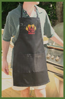 king of the grill embroidered apron