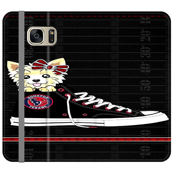 Houston Texans High Waist And Dog Samsung Galaxy S7 EDGE Flip Case | Frostedcase