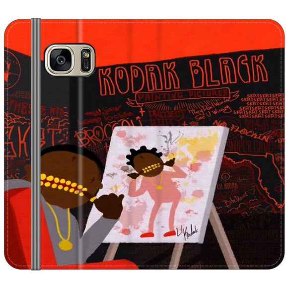 Kodak Black Illustration Samsung Galaxy S7 EDGE Flip Case | Frostedcase
