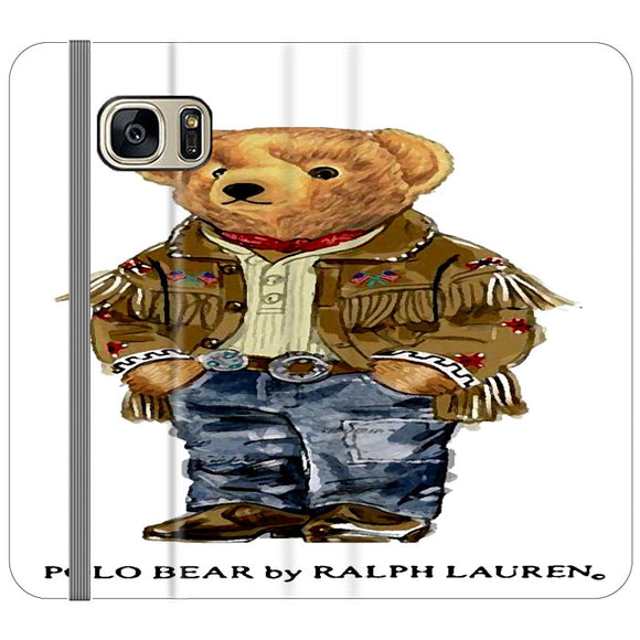 Polo Bear Indian Costume Samsung Galaxy S7 EDGE Flip Case | Frostedcase