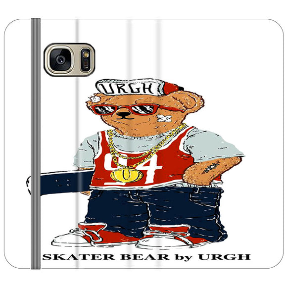 Polo Sskater Bear Urgh 04 Samsung Galaxy S7 EDGE Flip Case | Frostedcase