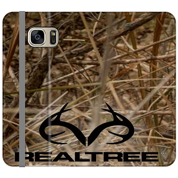 Realtree Camouflage Fabric Samsung Galaxy S7 EDGE Flip Case | Frostedcase