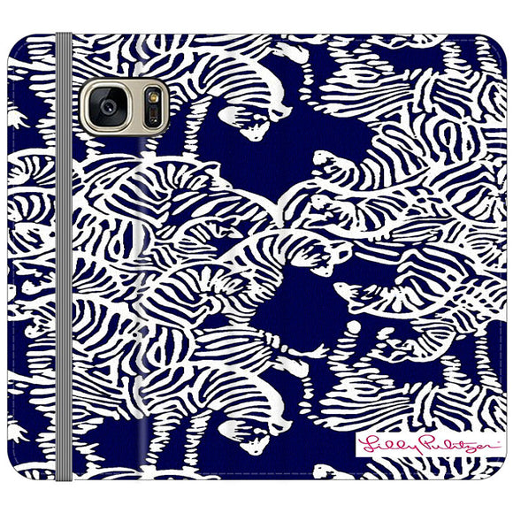 Safari Zebra Pattern Vineyard Vines Samsung Galaxy S7 EDGE Flip Case | Frostedcase