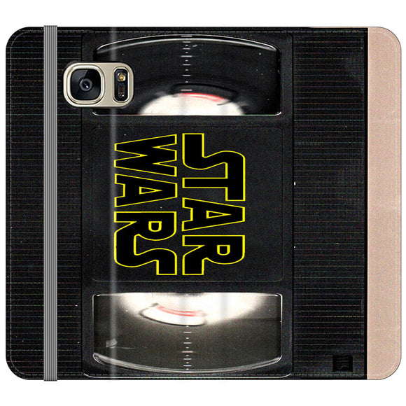 Star Wars Vhs Tape Hard Book Samsung Galaxy S7 EDGE Flip Case | Frostedcase