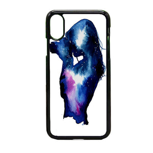 Starry Night Sky Silhouette iPhone X Case | Frostedcase