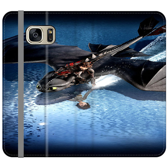 Train Your Dragon The Hidden World Mirror Water Samsung Galaxy S7 EDGE Flip Case | Frostedcase
