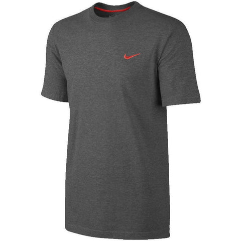 Nike Men T-Shirt Embroidered Swoosh Tee Sports Gym Fitness Short Sleeve Shirt