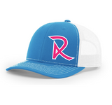 Cyan/Hot Pink Snap Back Hat