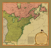 1794 Map of the United States Art Print