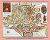 1630 Map of Virginia & Chesapeake by Henricus Hondius