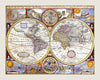 1626 A New and Accurate Map of the World by John Speed