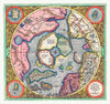 1606 Mercator Hondius Map of the Arctic Art Print