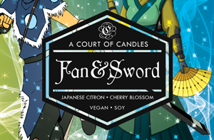 Fan & Sword - Soy Candle - Candles