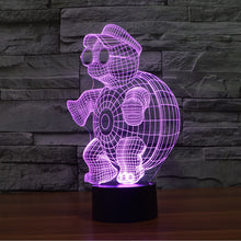 Adorable Too Cool Tortoise 3D Optical Illusion Lamp - 3D Optical Lamp