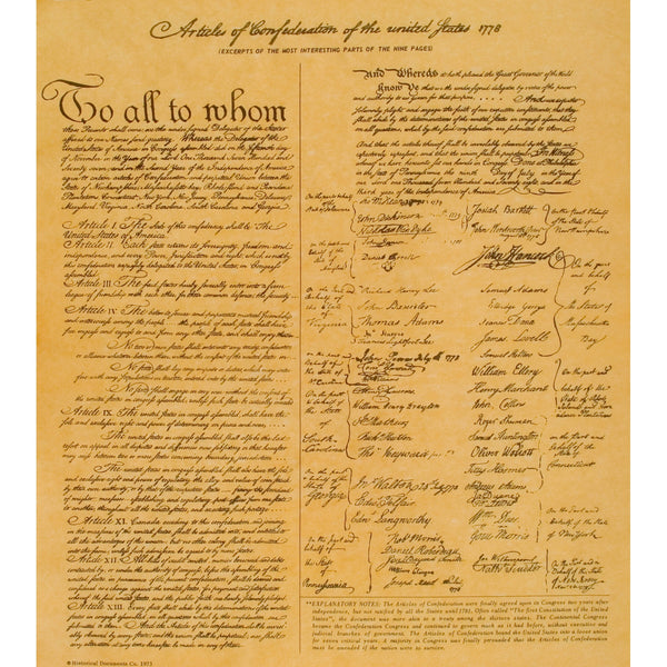 Articles of Confederation of the United States - 1778