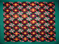 Mennonite Nine Patch and Eight-Point Star Quilt