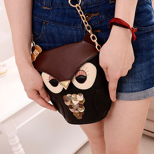 """Cool Owl Shape Shoulder Bag"""
