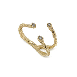 MOMENTS 9ct Gold 3 stones ring