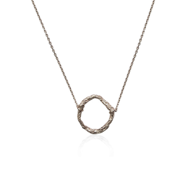 ILLUSION Circle necklace - Silver