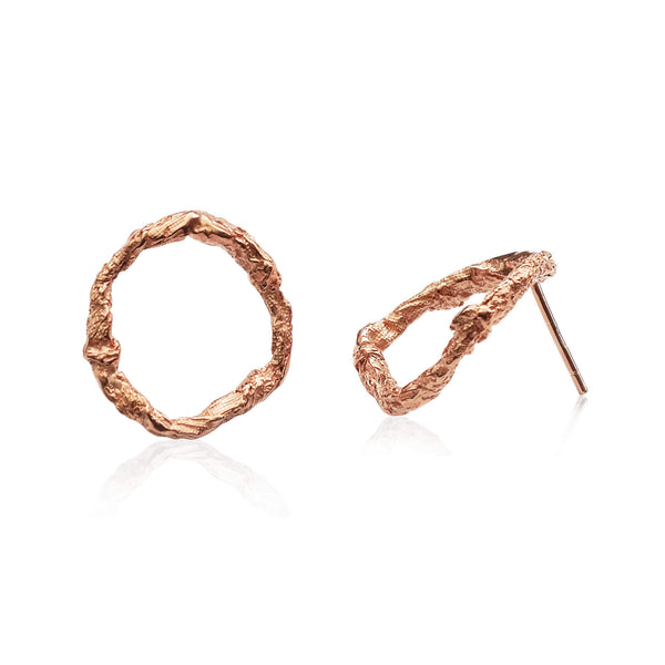 ILLUSION Circle Earrings - Rose gold