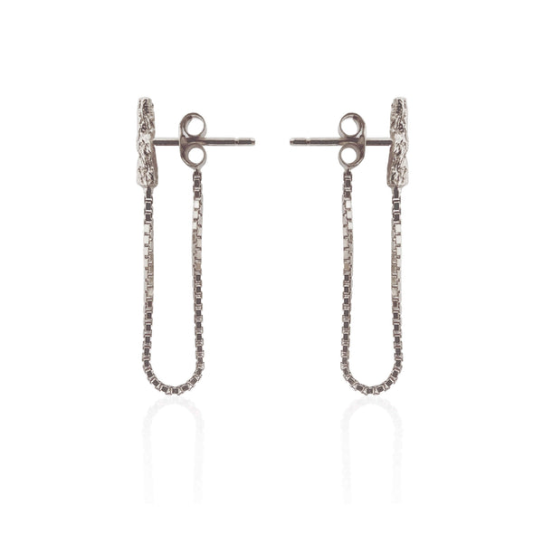 ILLUSION Chain Studs - Silver