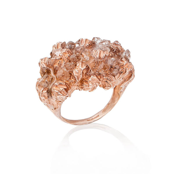 UNDER EARTH COCKTAIL RING - ROSE-GOLD