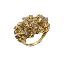 UNDER EARTH Cocktail Ring - Gold