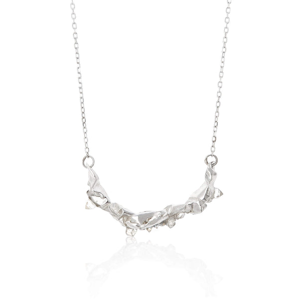 C R U S H large necklace - Silver