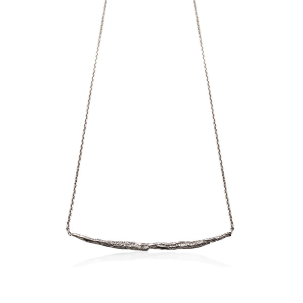 ILLUSION Long stick necklace - Silver