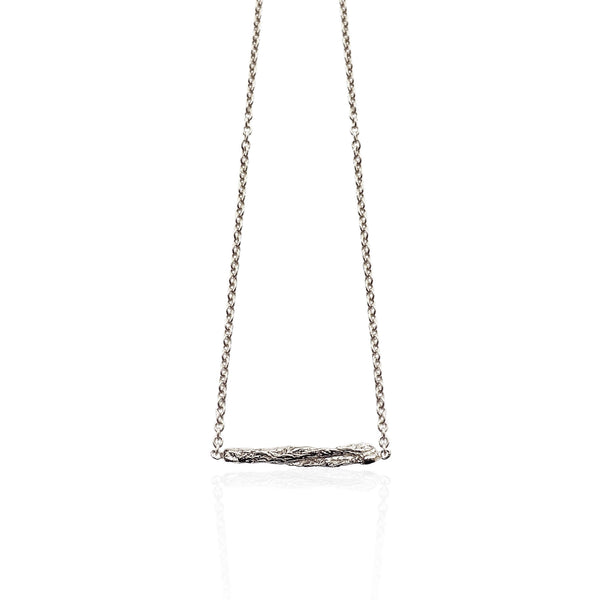 ILLUSION short stick necklace - SILVER