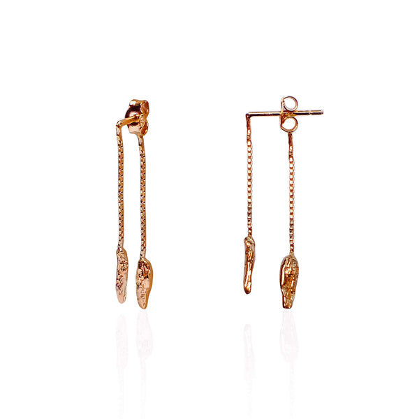 ILLUSION Tinkling Earrings - ROSE GOLD