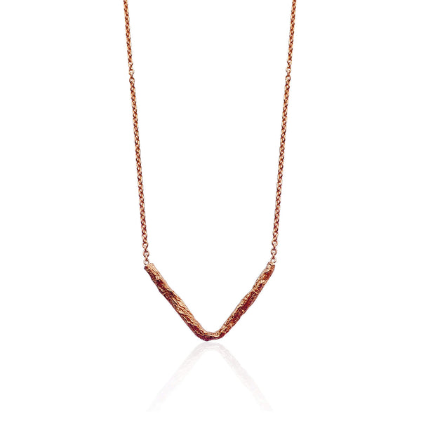 ILLUSION V necklace - ROSE GOLD