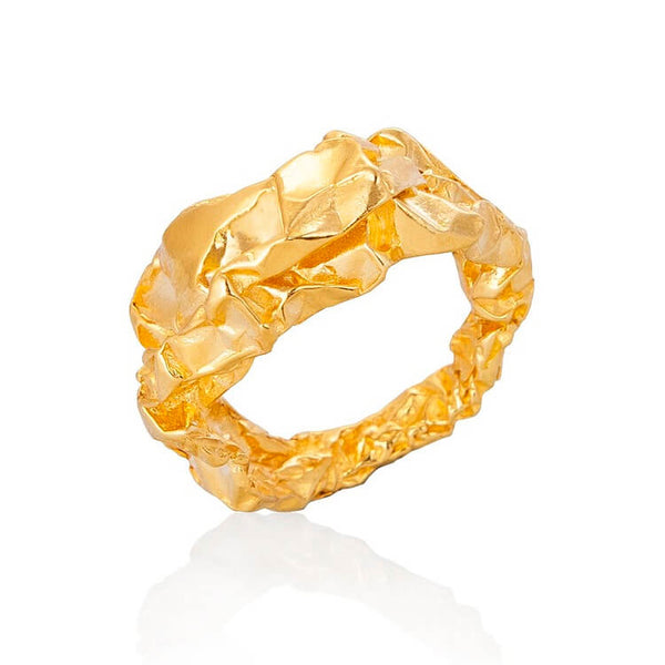 C R U S H Sculptural Ring - Gold