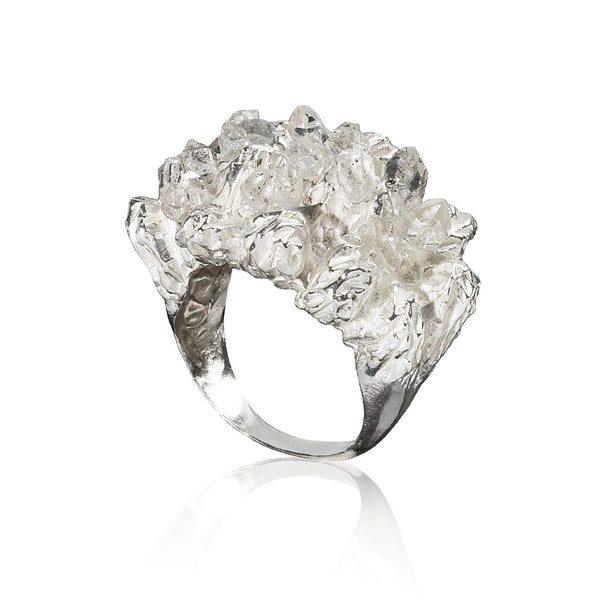 UNDER EARTH Cocktail Ring - Silver