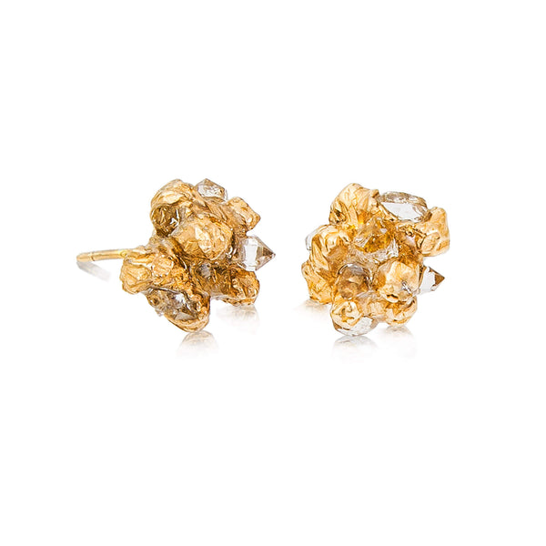 UNDER EARTH Stone Studs - Gold