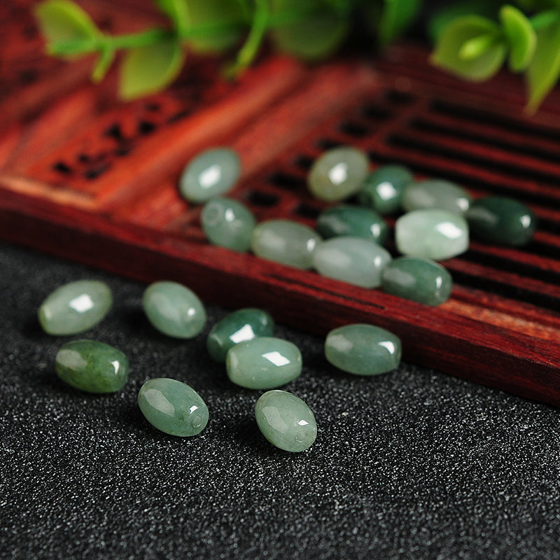 Natural jade jadeite beads dark green wholesale