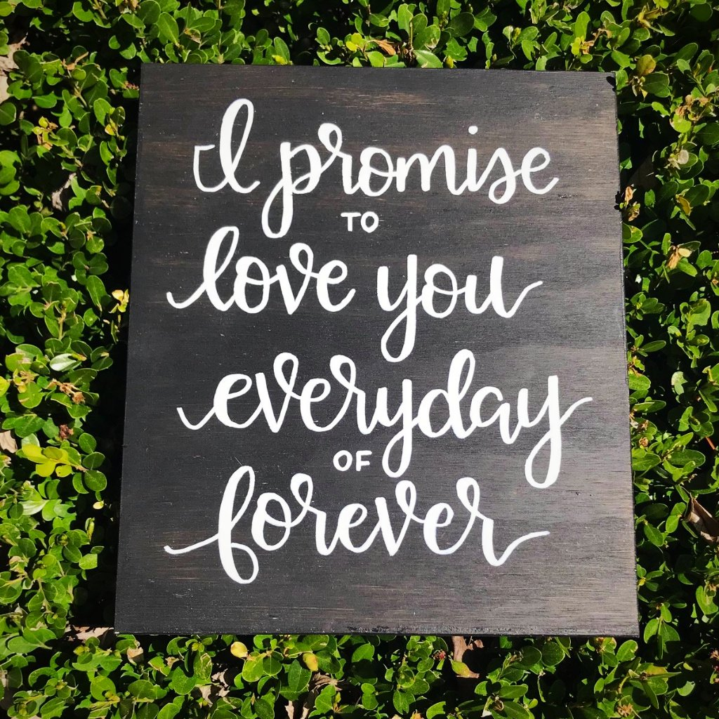 I PROMISE TO LOVE YOU