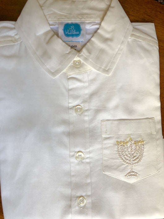 Elora BOYS EMBROIDERED buttondown shirt