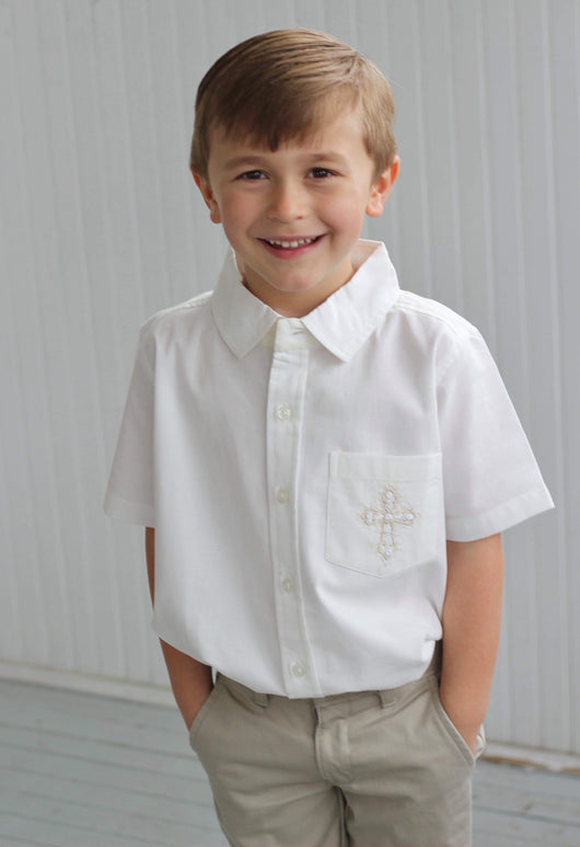 Lucia BOYS EMBROIDERED button down shirt