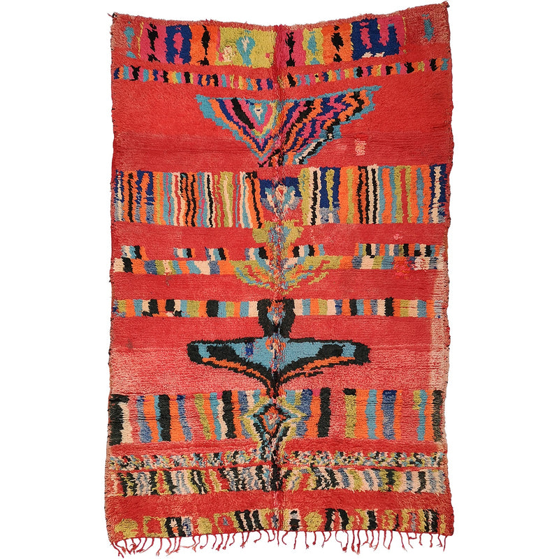 Vintage Boujad Tribal Art Rug