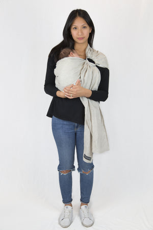 linen baby wrap | ring sling canada | neutral baby carrier Potter & Pehar