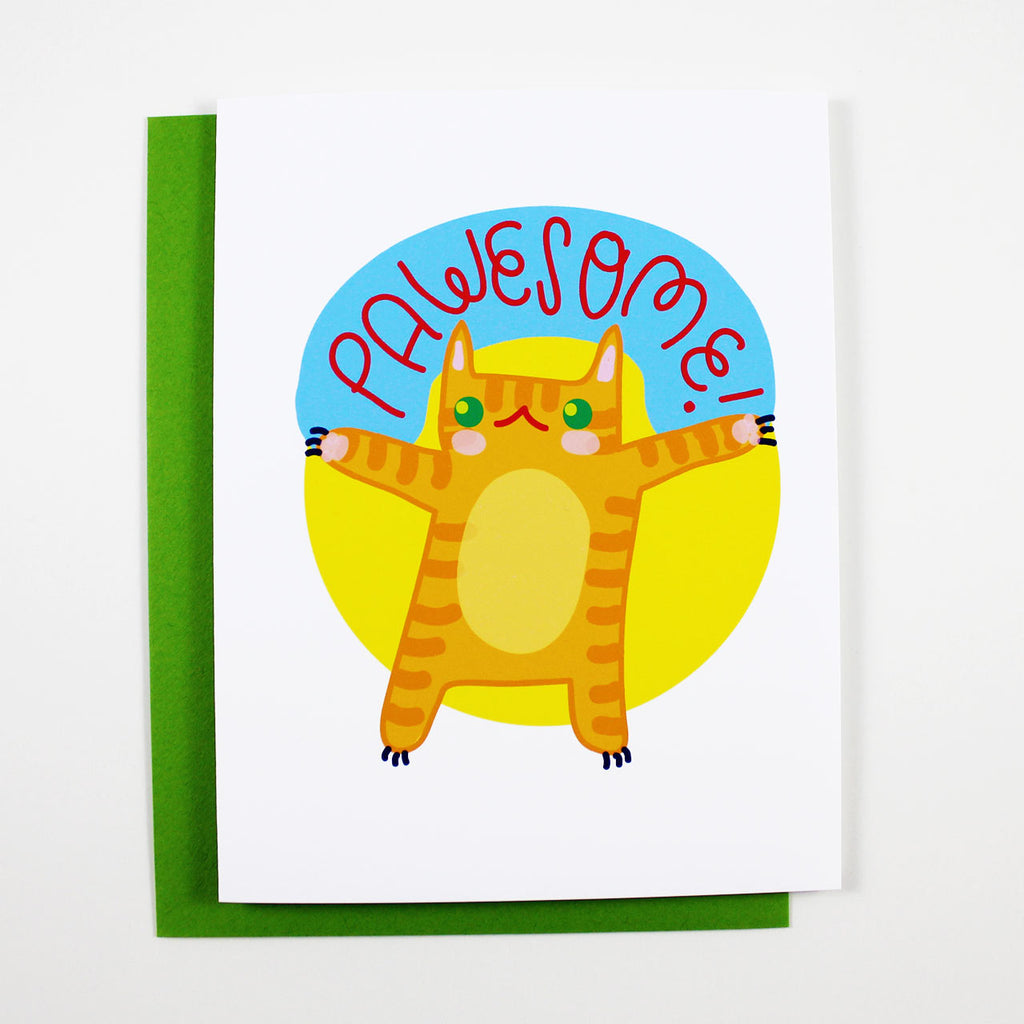 pawesome congrats cat card