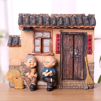 TERRA Old Couple (At Home 2 / 19x8x15cm)