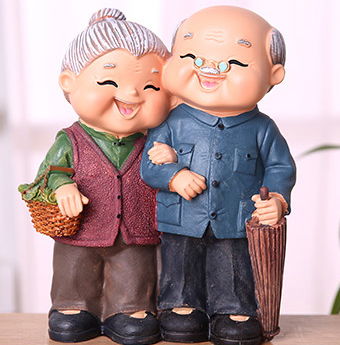 TERRA Old Couple (Go Market / 14x7.5x20cm)