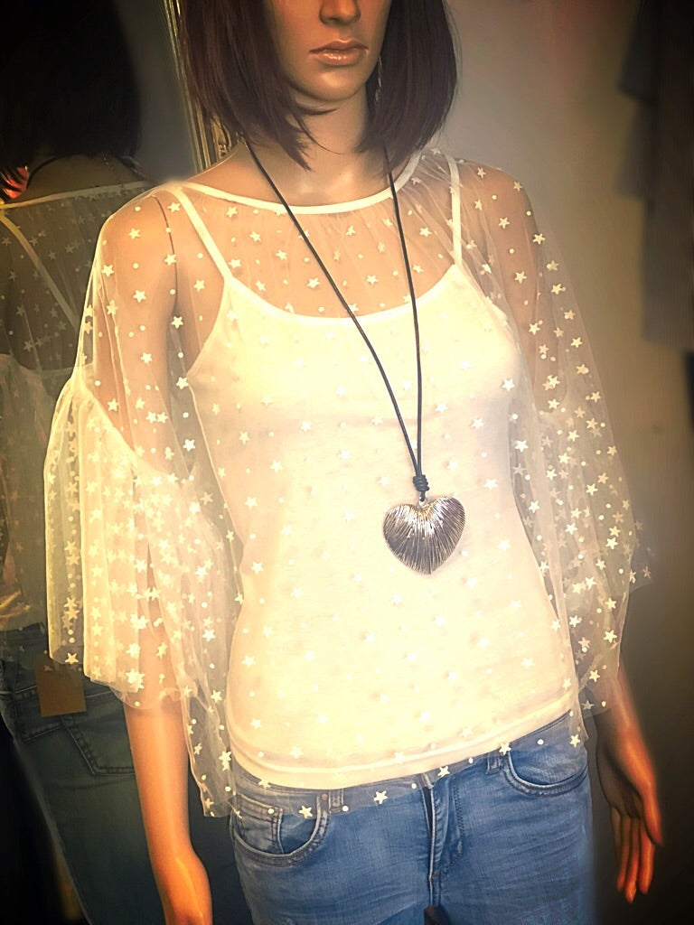 Sheer Star Top